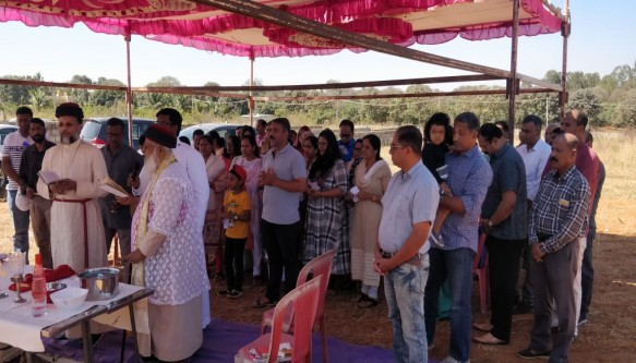 Blessing of New Church land of Bangalore Parish